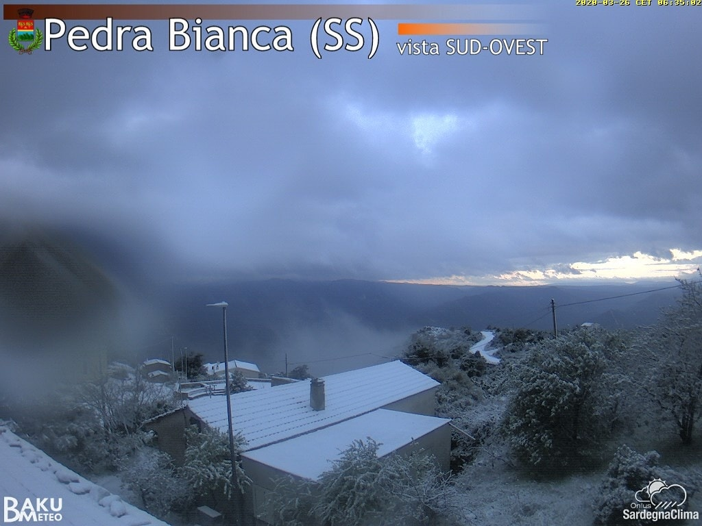 Up To -6 degree C In Sardinia And Severe Frost In Campidano